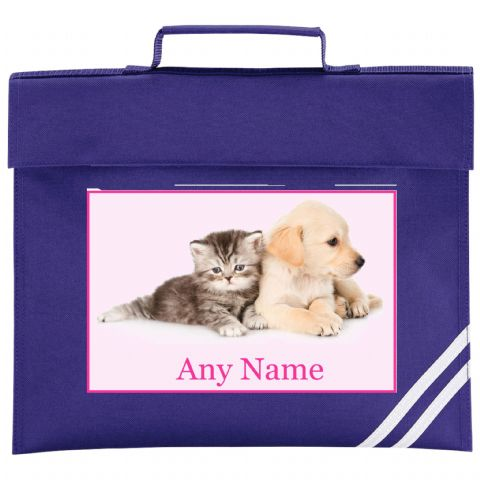 Kitten & Puppy Book Bag